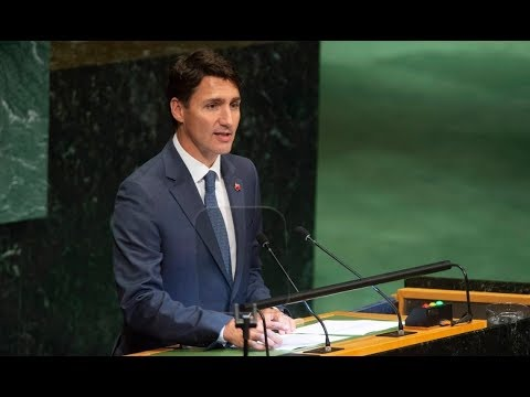 Trudeau speaks at UN Nelson Mandela Peace Summit