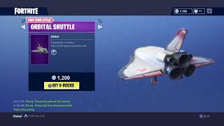 New Fortnite Dark Vanguard Skin + Deep Space Lander and Orbital Shuttle Glieder
