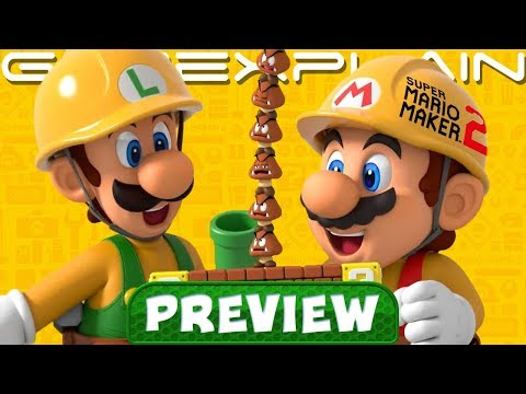 We Played Super Mario Maker 2 for 1 HOUR - Hands-On Preview (Story Mode, Koopa Car, Co-Op, & More!)