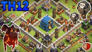 th12 trophy base 2018/coc th12 trophy pushing base 2018/war base /clash of clan
