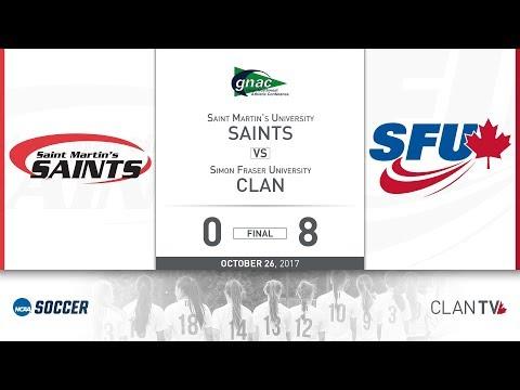 SFU Clan Women's Soccer vs. SMU - October 26, 2017
