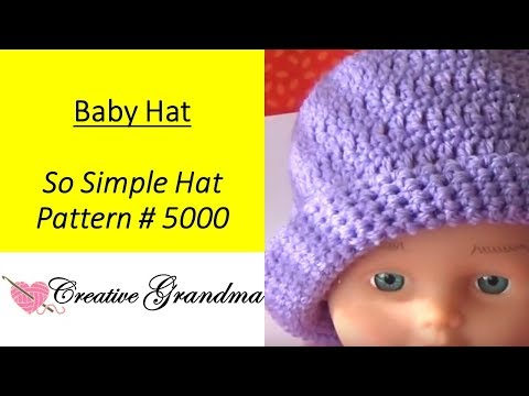 #5000 So Simple Baby Hat - (Free Pattern at end of video)  5,000 Purple Baby Hats Needed