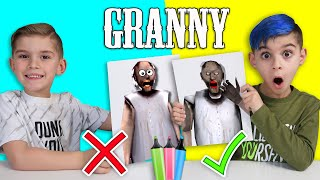 3 MARKER CHALLENGE!! (Granny Edition)