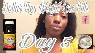 DOLLAR TREE- Nature's Measure Weight Loss Pills Day 5 - Update | Weight Loss VLOG