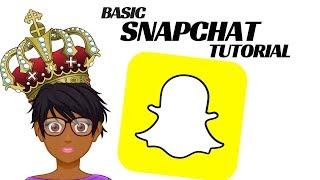 Basic snapchat tutorial - How to use snapchat