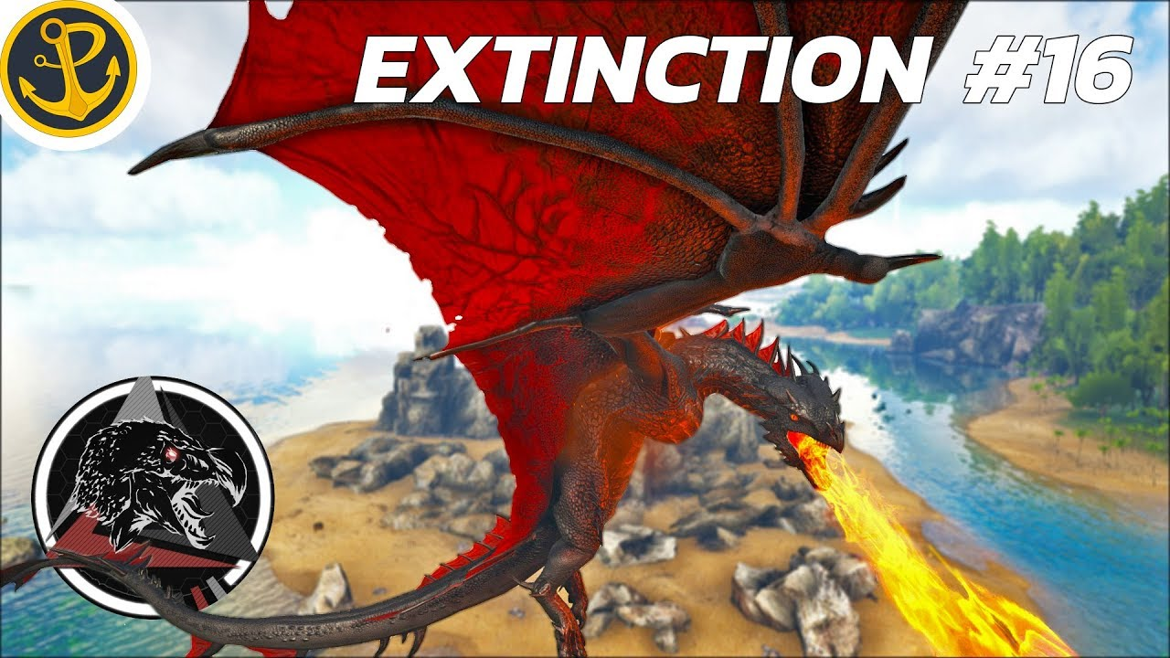 ARK Extinction Core: ALPHA FIRE WYVERN CATASTROPHE W/ Wombat! E16