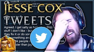 Asmongold Reacts to Tweets From Jesse Cox With Mcconnell