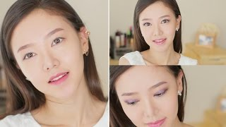 No Makeup Look to Purple Date Makeup ♥ (ENG VER)