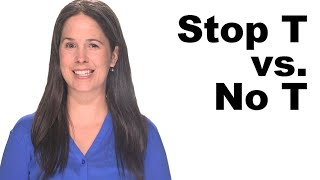 Stop T vs No T – American English Pronunciation
