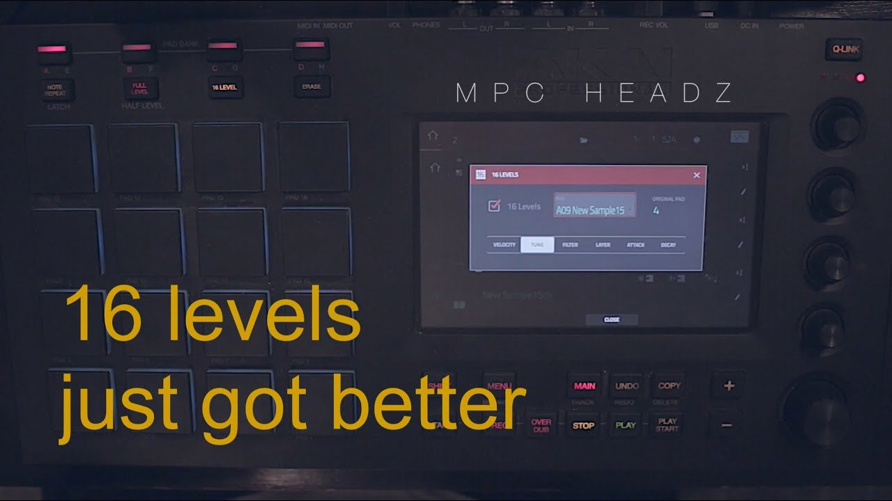 Play more than one sound with 16 levels - MPC Touch / Live / X