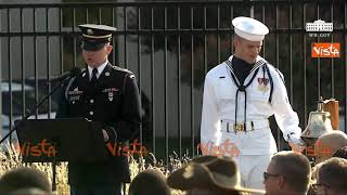 L'America ricorda l'11 Settembre, Trump alla cerimonia del Pentagono