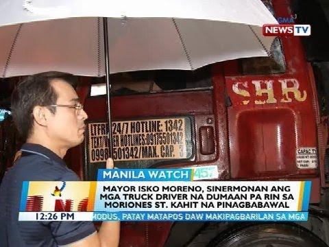 BT: Mayor Isko Moreno, sinermonan ang mga pasaway na truck driver