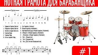 Нотная грамота для барабанщика. Урок 1
