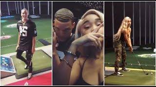 Aaron Gordon goes golfing with his girflriend Dakota Gonzalez, Mo Bamba & Terrence Ross