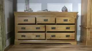 Farmhouse Country Oak 3 Over 4 Chest Of Drawers