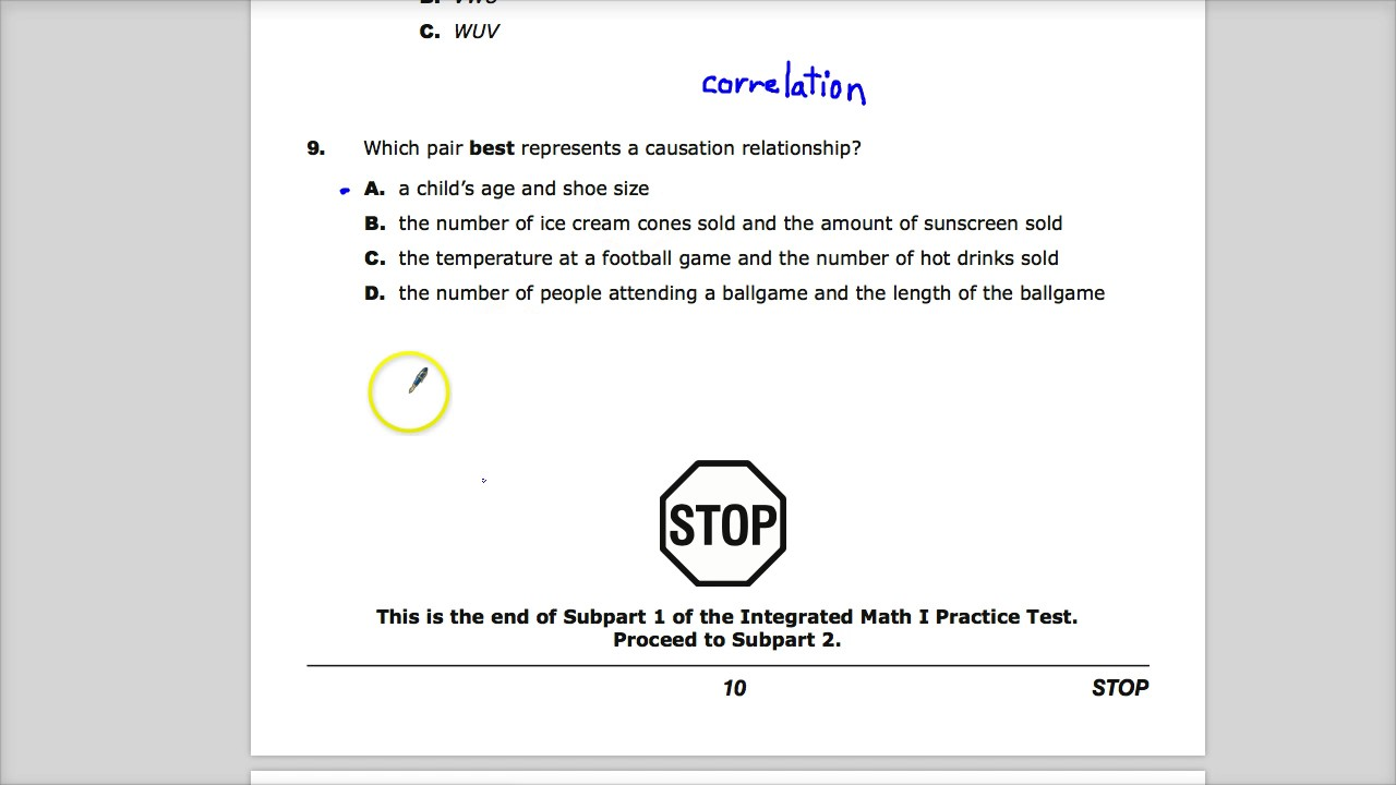 Question 9 - Integrated Math 1 - TNReady Practice Test - YouTube