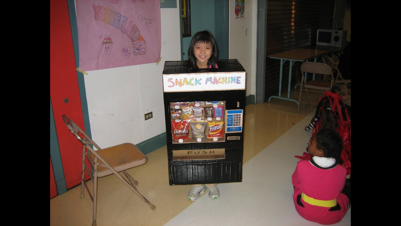 cool homemade snack machine halloween costume - youtube