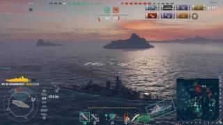 World of Warships gameplay: Scharnhorst - Удачный выход немца в море, 8 фрагов, не минуты покоя