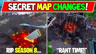 """NUOVO"" FORTNITE SECRET MAP CHANGES V8.50 ""RIP POI'S - EVENT LEAKED😢!"" - ""TEMPO RANT!"" Stagione 8"