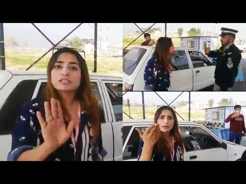 Islamabad: Woman misbehaves with Traffic Police and Reporter after Violating Traffic Rules