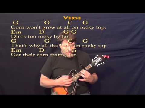 Rocky Top - Mandolin Cover Lesson with Lyrics/Chords