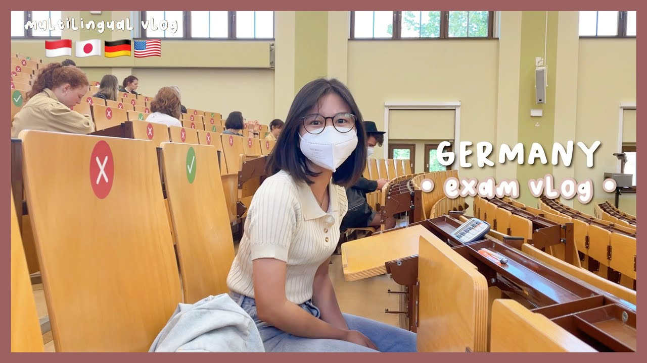 eng) ドイツテスト期間!exam week in germany: first in-person exam since corona pandemic!