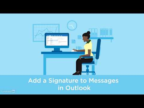 How do i add a signature in outlook 2020 reply