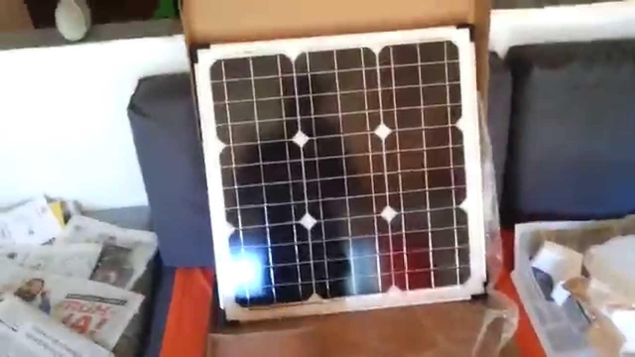 meine solaranlage f r 225 euro 40w solarmodul und 100ah. Black Bedroom Furniture Sets. Home Design Ideas