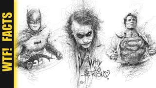 Incredible Scribbled Pencil  Drawings of Musicians & Super Heroes | LISTING #2