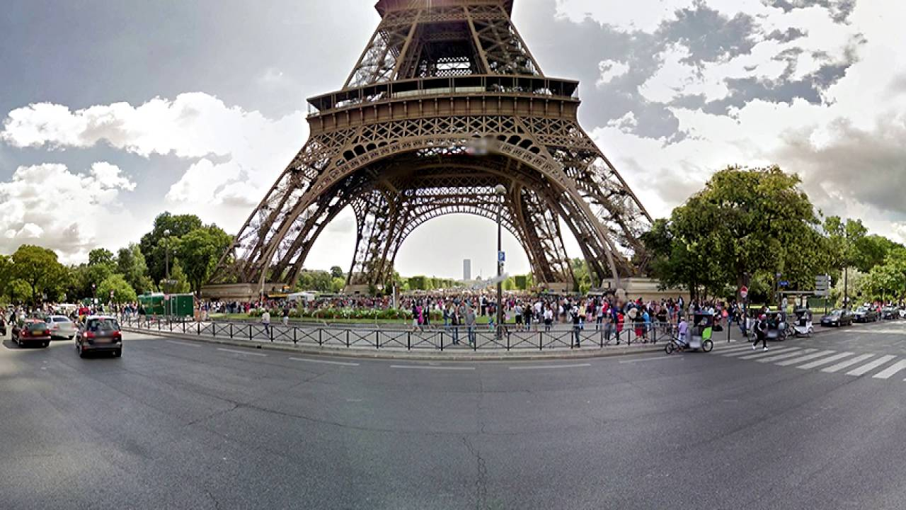 eiffel tower paris hd | 360 degree view - youtube