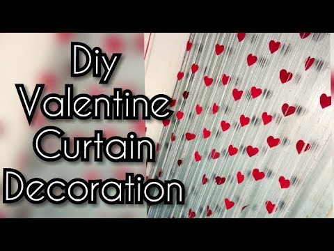 Diy Valentine's Day Hearts Curtain Decoration | Valentine's Decoration | project