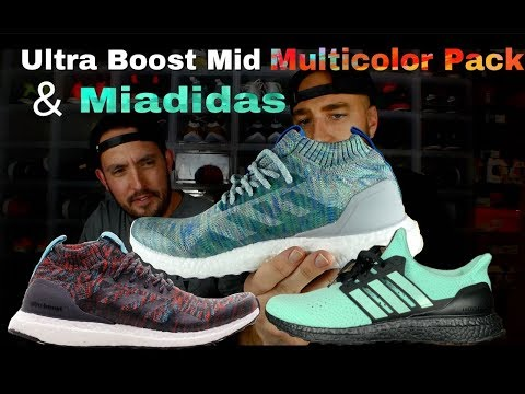 Ultra Boost Mid Multicolor Pack & Miadidas Review & On Feet!