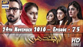 vuclip Bandhan Ep 75 - 24th November 2016 - ARY Digital Drama