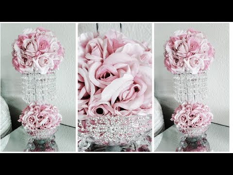 DIY | DOLLAR TREE GLAM CHANDELIER CENTERPIECE | QUICK AND EASY DIY | INEXPENSIVE DECOR 2019