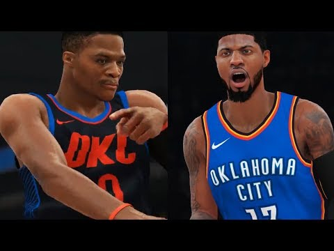 NBA 2K18 Gameplay - Durant vs. Westbrook GRUDGE MATCH! Golden State Warriors OKC Thunder (PS4 PRO)