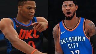 NBA 2K18 Gameplay Durant vs. Westbrook GRUDGE MATCH Golden State Warriors OKC Thunder PS4 PRO