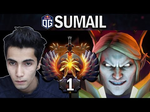 THIS IS HOW THE RANK 1 MMR PLAYS INVOKER - OG.SUMAIL - DOTA 2 7.24 GAMEPLAY