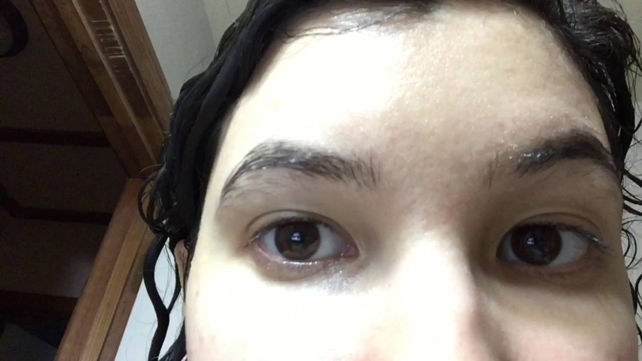 Close Up Eyebrow Growth Results Using Castor Oil Almond Jojoba