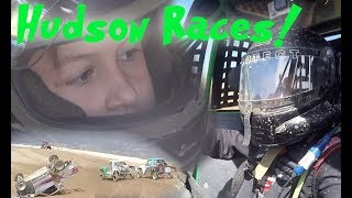 7 Year Old Jumps Race Truck! Hudson Races Lucas Oil J1 For The First Time
