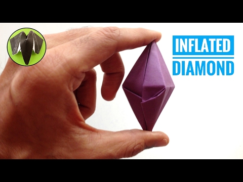 INFLATED DIAMOND - DIY Origami Tutorial by Paper Folds ❤️