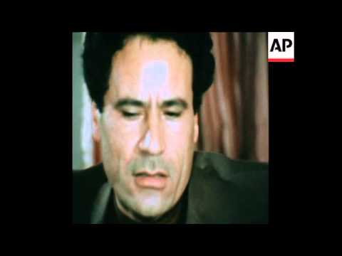 SYND 24 3 76 LIBYAN LEADER MUAMMAR AL-GADDAFI INTERVIEWED IN TRIPOLI ON TERRORISM