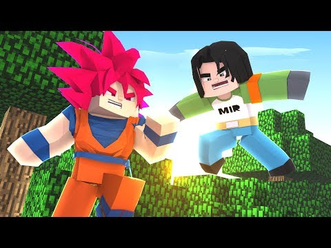Minecraft Drag Block C, GOKU VS ANDROIDE Nº 17! DRAG BALL 33