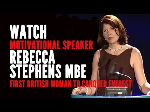 Rebecca Stephens MBE - The First British Woman to Climb Everest