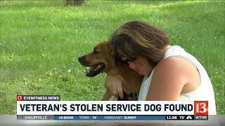 Service dog reunited with owners