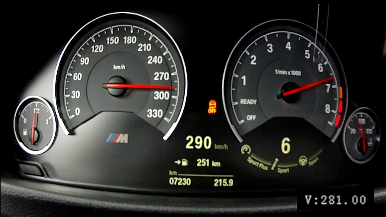 BMW M3 F80 2015 6speed manual  acceleration 0290 kmh  YouTube