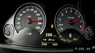 BMW M3 F80 2015 6-speed manual - acceleration 0-290 km/h