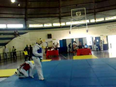 """Taekwondo Salto open 2010-anderson silva final -87kg(Professor Agnaldo Martins)"""