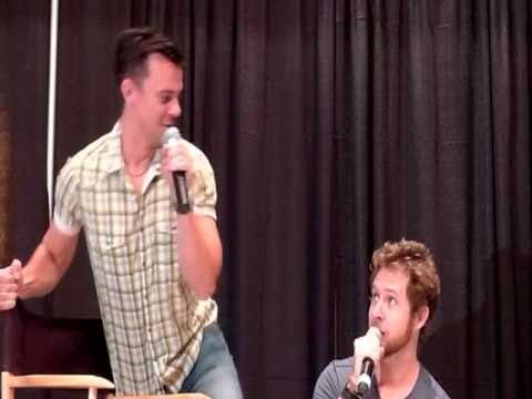 A.J. Buckley and Travis Wester do impressions of Sam and Dean Winchester