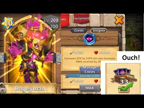 JT's Main BOGEYMAN Explained Maxed Out Double Evolved Castle Clash