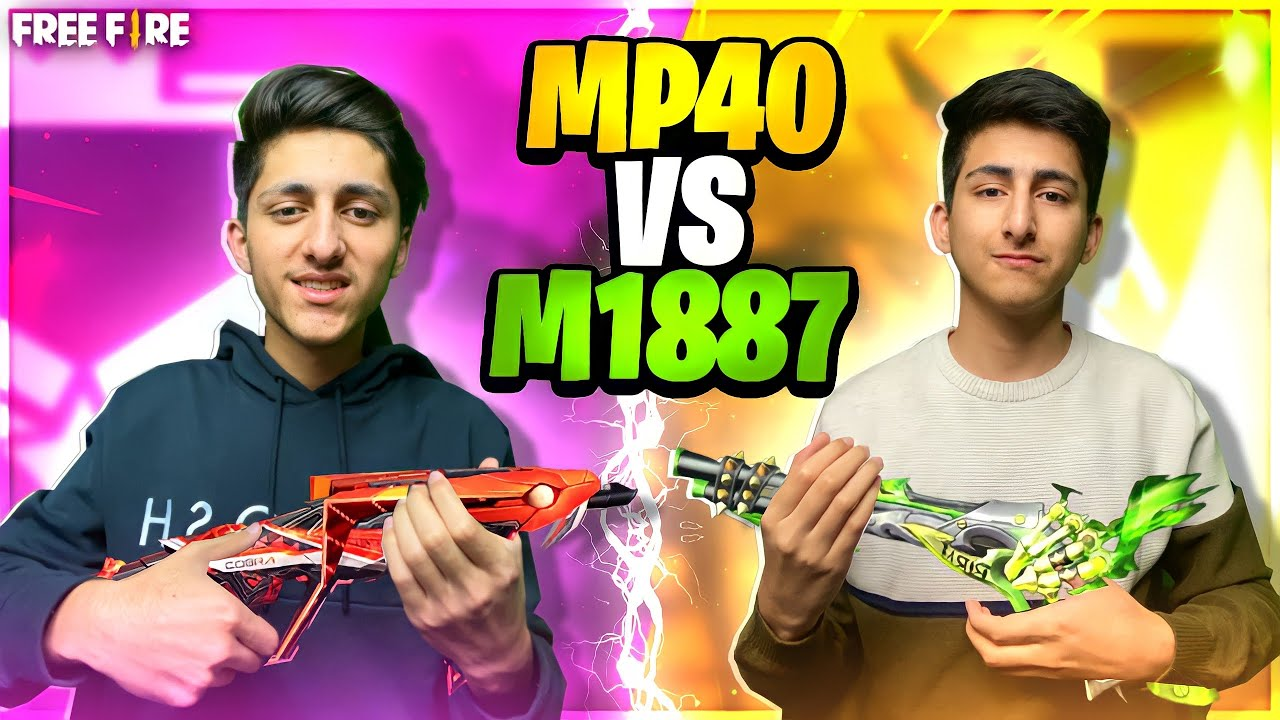 Mp40 Vs M1887 Which Gun Is Best 😱 Who Will Win ? As Gaming Vs As Rana - Garena Free Fire